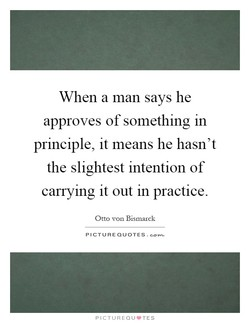 When a man says he 