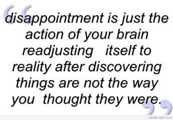 disappointment is just the 