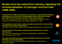 Quotes from the automotive industry regarding the 