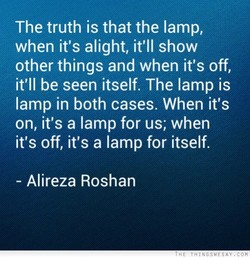 The truth is that the lamp, 