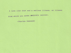 A love like thaE vag a gerious illnegg, an illness 