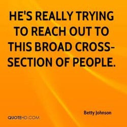 HE'S REALLY TRYING 