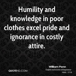 Humility and 