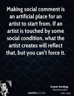 Making social comment is 