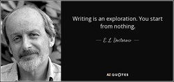 Writing is an exploration. You start 