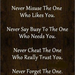 Never Misuse The One 