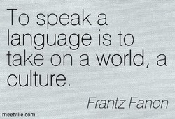 To speak a 