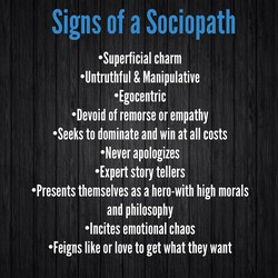 Signs of a Sociopath 