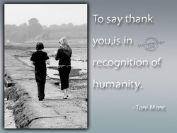 To say thank 