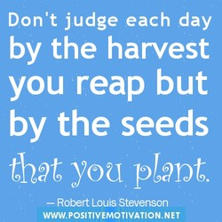 Don't judge each day 