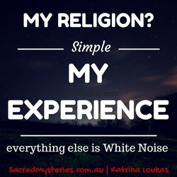 MY RELIGION? 