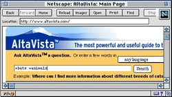Netscape: RltaUista: Main Pa e 