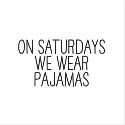 ON SATURDAYS 