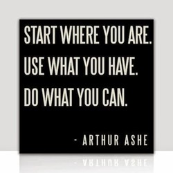 START WHERE ARE. 