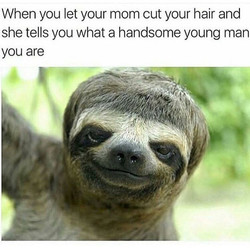 When you let your mom cut your hair and 