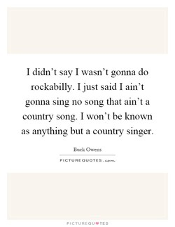I didn't say I wasn't gonna do 