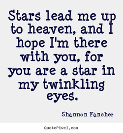 Stars lead me up 