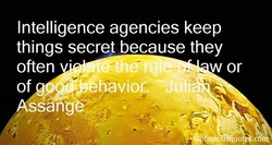 Intelligence agencies keep 