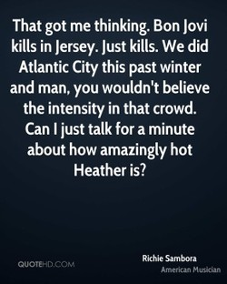 That got me thinking. Bon Jovi 