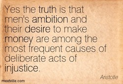 'Yes the truth is that 