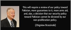 This will require a review of our policy toward 