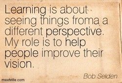 Learninq is about 