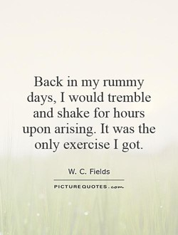 Back in my rummy 