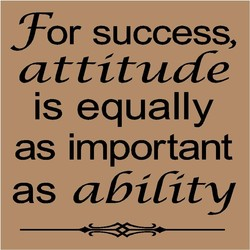 or success, 
