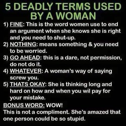 5 DEADLY TERMS USED 