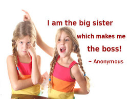 I am the big sister 