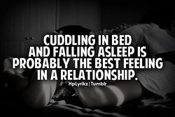 CUDDLING IN BED 