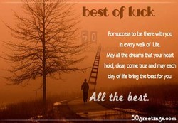 best of luck 