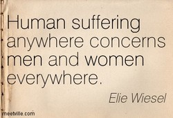 Human suffering 