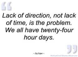 Lack of direction, not lack 