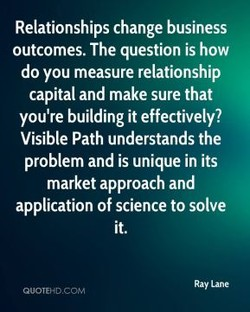 Relationships change business 