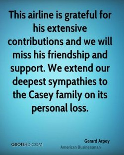 This airline is grateful for 