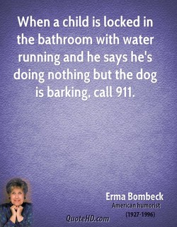 When a child is locked in 