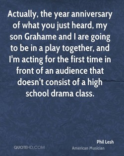 Actually, the year anniversary 