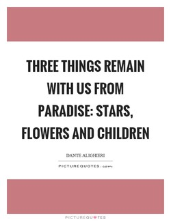 THREE THINGS REMAIN 