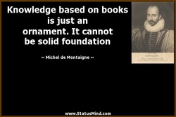 Knowledge based on books 
