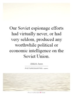 Our Soviet espionage efforts 