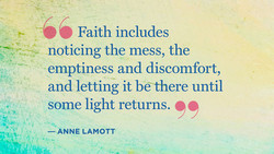 Faith includes 