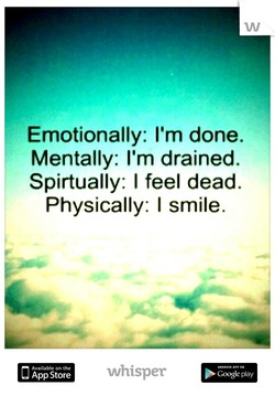 Emotionally: I'm done. 