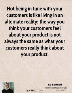 Not being in tune with your 
