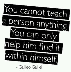You cannot teach 