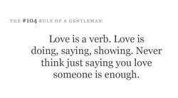 THE #104 RULE OF A GENTLEMAN: 