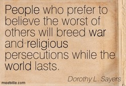 People who prefer to 