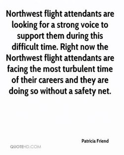Northwest flight attendants are 