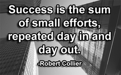 Success is the sum 