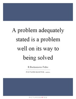 A problem adequately 